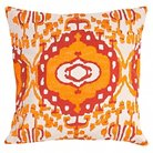"Jaipur En Casa by Luli Sanchez Pillows Handmade Cotton Pillow - Yellow/Gray (18""X18"")"