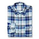 Men's Big & Tall Flannel Shirt Blueprint Plaid - Merona™