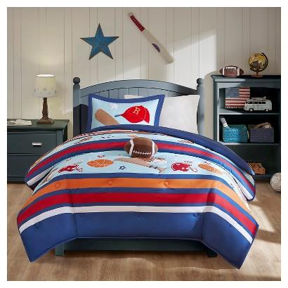 Dunkin Dillan Comforter Set - Blue (Twin)