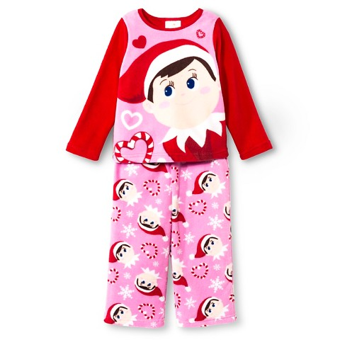 toddler girls 39 elf on the shelf pajama sets target. Black Bedroom Furniture Sets. Home Design Ideas