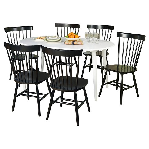 piece naples oval dining set wood black tms product details page