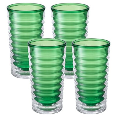 Tervis Entertaining Collection Tall 4 Piece Plastic Tumbler - Mint Sprig (16 oz)