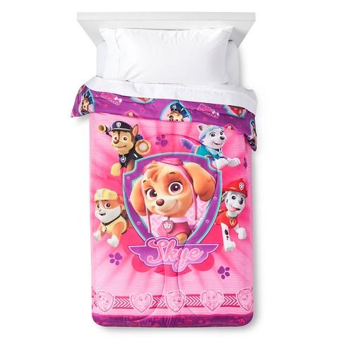 pink paw patrol comforter