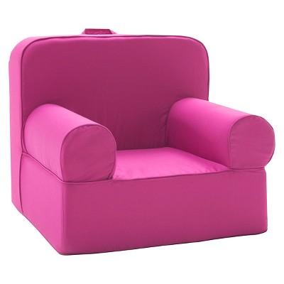 Accent Chair: Kids Upholstered Chair: Medium Luna Lounger Chair U2013  Pillowfort, Pomegranite Pink