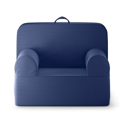 Medium Luna Lounger Chair - Blue Overalls - Pillowfort™