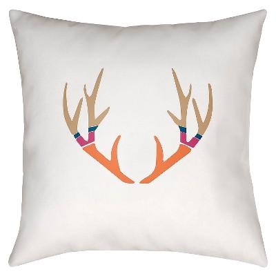 "Hunting Season Throw Pillow - Orange - 18"" x 18"" - Surya"