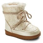 Toddler Girls' COVERGIRL Glitter Lace Up Snow Boots