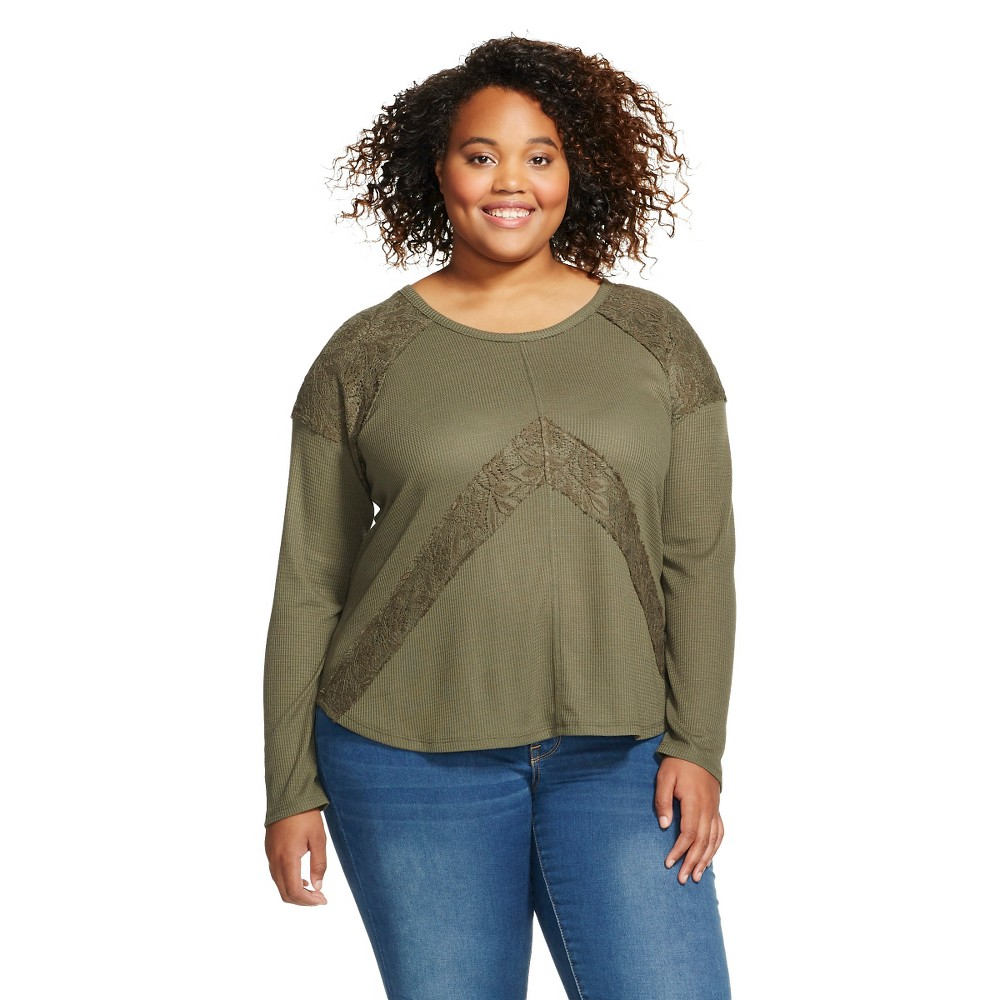 Women's Plus Size Tunics Olive (Green)  - Mossimo Supply Co