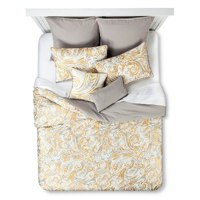 Hyra 8 Piece Comforter Set - Neutral (Queen)