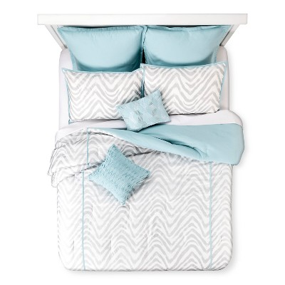 Kamaria 8 Piece Comforter Set - Aqua (King)