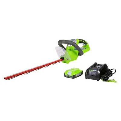 GreenWorks 20V 20-Inch Hedge Trimmer, 2Ah Battery and Charger Included