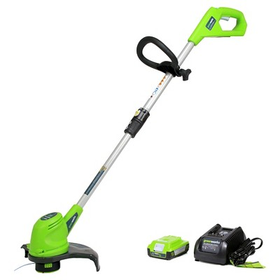 GreenWorks 20V 12-Inch Cordless String Trimmer with Battery and Charger