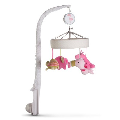 Baby Girls' Snooz'n Safari Musical Crib Mobile Pink - Circo™