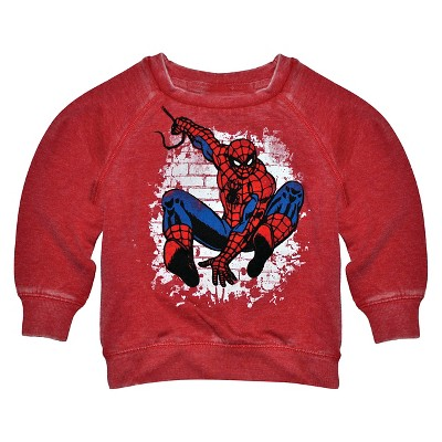 Male Sweatshirts Spiderman Red 12  MONTHS