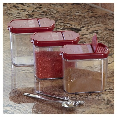 Ecom Dry Food Dispenser Chefs 1.5cup Red