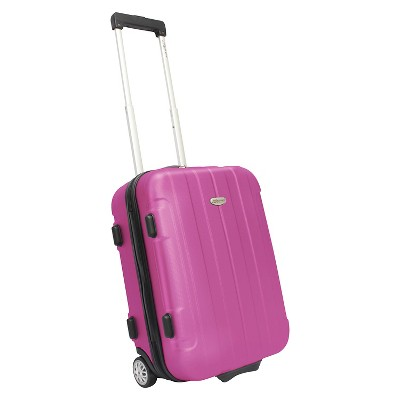 "Traveler's Choice Rome 21"" Hardside Carry On Luggage - Pink"