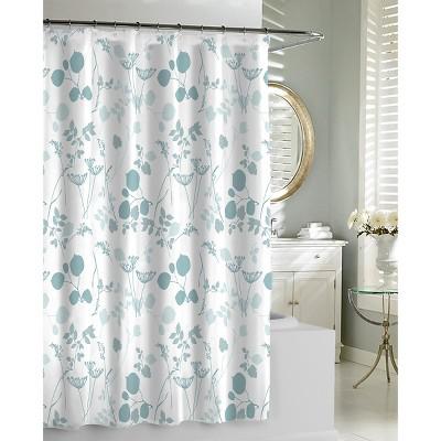 Kassatex Giardino Shower Curtain - Spa Blue