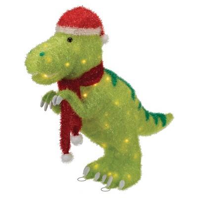 Tinsel Dinosaur Lit Decor
