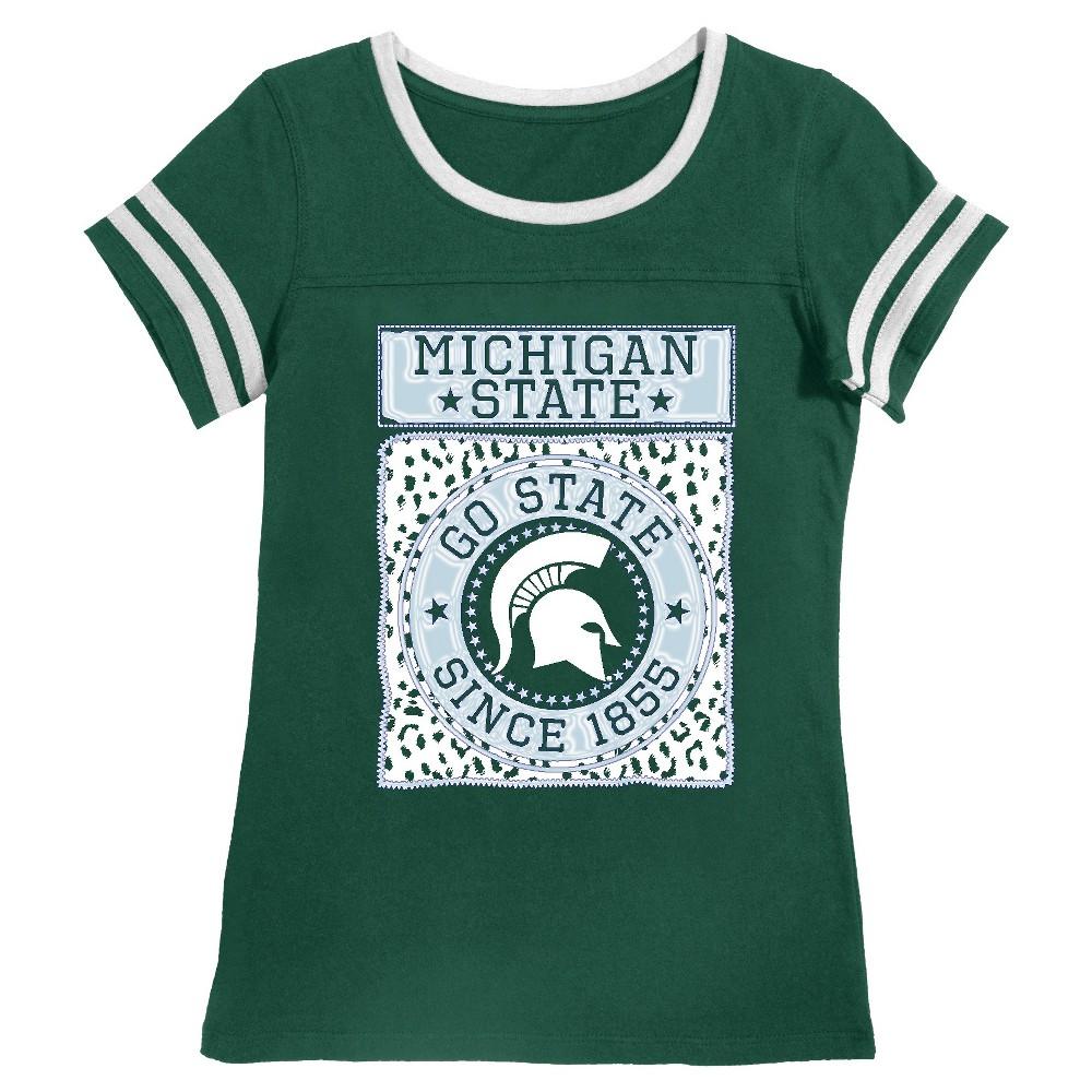 Michigan State Spartans Girls Foil T Shirt