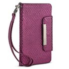 Women's Cell Phone Wallet with Removal Wristlet Strap Purple