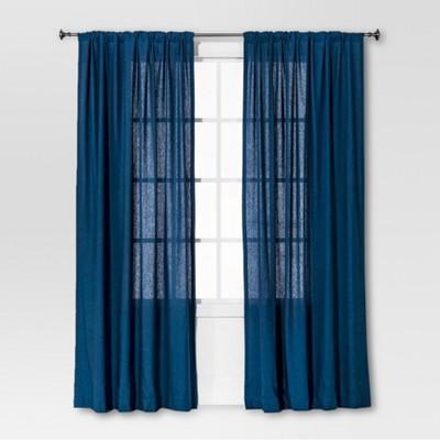Threshold™ Curtain Panel Linen-Look