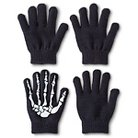 Boys' Skeleton Gloves - Black One Size