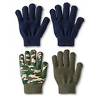 Boys' Camouflage Gloves - Green/Navy One Size
