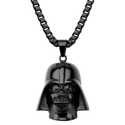 """Men's Disney® Star Wars Stainless Steel 3D Darth Vader Pendant with Chain - Black (22"""")"""