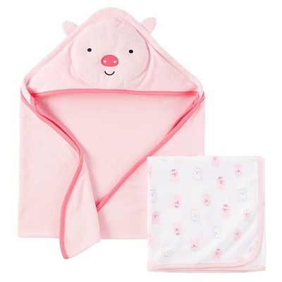 Just One You™ Made By Carter's® Newborn Girls' Bear Hooded Bath Towel - Pink