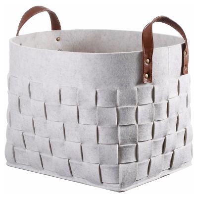 Threshold™ Decorative Basket Felt Snowball - White