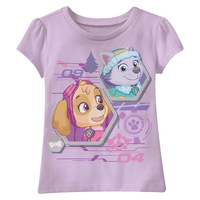 Paw Patrol Toddler Girls' Skye and Everest Tee - Lavender 4T