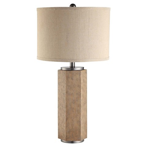 Bowie Wood Block Table Lamp Target