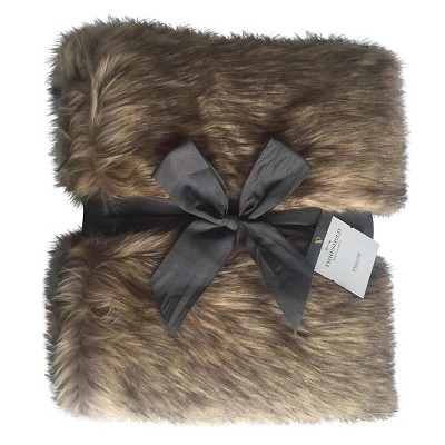 Threshold Brown fur throw