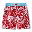 Baby Boys' Hawiian Swim Trunks - Red