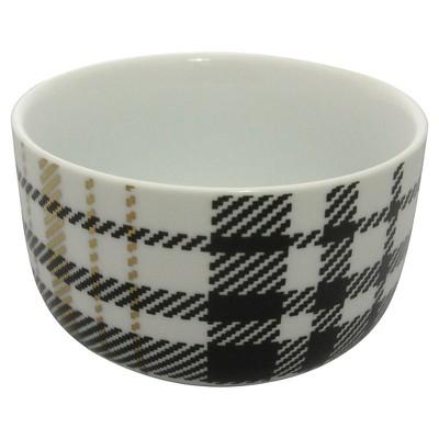 Threshold™ Black and Gold Plaid Bowl