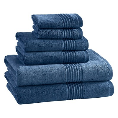 Bath Towels Sets Kassatex Dark Blue