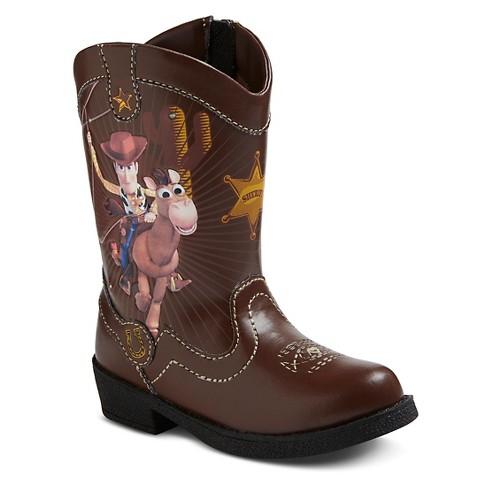 toddler boys disney story cowboy boots brown target