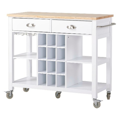 extra wide kitchen island cart wood stainless st target