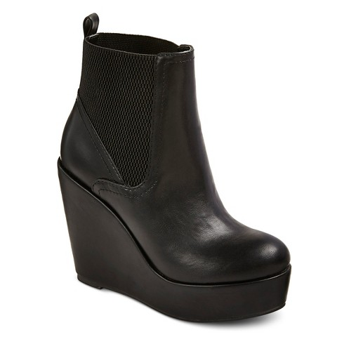 s mossimo supply co high wedge chelsea boots