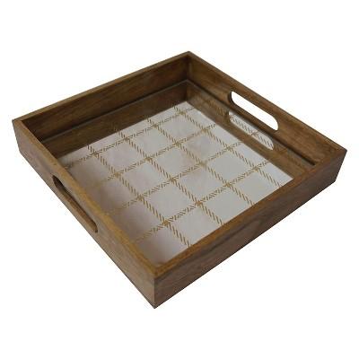 Plaid Wood Tray - Small - Threshold™