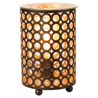 Ador Decorative Warmer - Black Pierced Metal