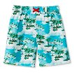 Baby Boys' Palm Tree Swim Trunks - Blue