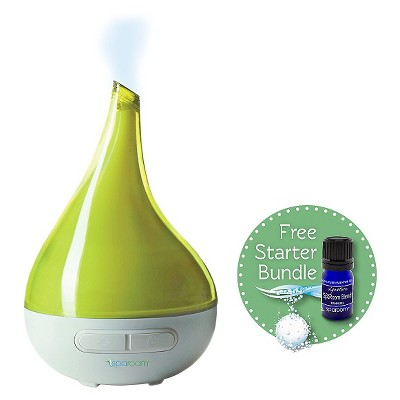 AeroMist Aromatherapy Oil Diffuser - Green (includes free essential oil and Klenzor Diffuser Cleansing Capsules)