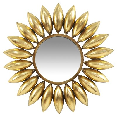 "Infinity Instruments Lyon Wall Mirror - 26""D - Gold"