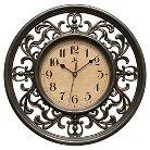 "Infinity Instruments Sofia Wall Clock - 12""D - Beige/Brown"