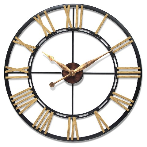 Infinity instruments cologne quartz movement wal target for Large wall clocks target