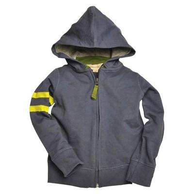 Burts Bees Baby™ Newborn Boys' Zip Hoodie - Blue Smoke 3-6 M