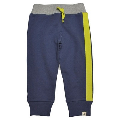Burts Bees Baby™ Newborn Boys' Terry Cuff Pant - Blue Smoke 0-3 M