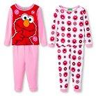 Sesame Street Elmo Toddler Girls' 4-Piece Pajama Set Red