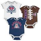 Arizona Wildcats Newborn/Infant Boys 3pk Body Suit 0-3 M